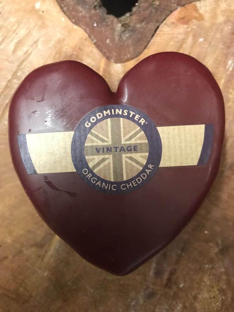 heart shaped cheese