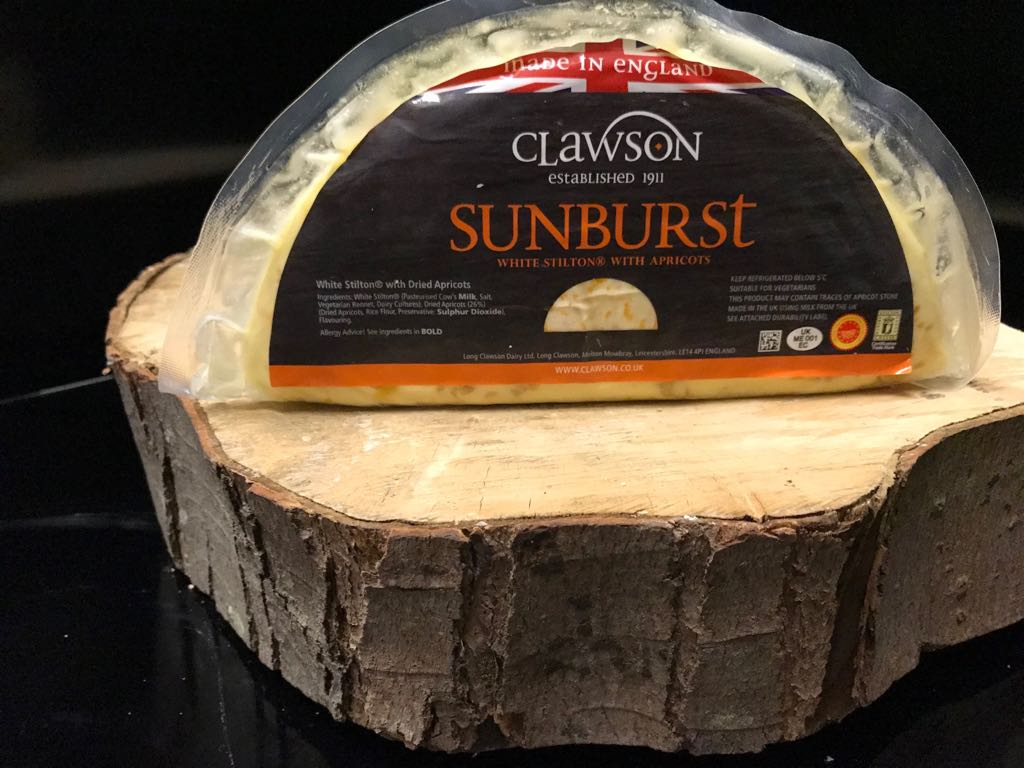 white stilton apricot cheese